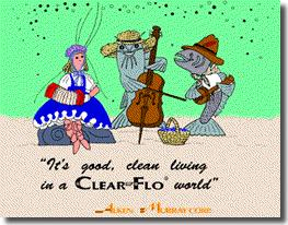 Its Good Clean Living in A Clear-Flo World - fish in a Zydeco band
